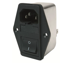 INLET WITH FUSE AND SWITCH - MF320-2