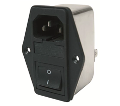 INLET WITH FUSE AND SWITCH - MF160